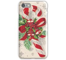 A Vintage Merry Christmas Candy Cane iPhone Case/Skin