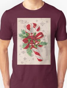 A Vintage Merry Christmas Candy Cane T-Shirt