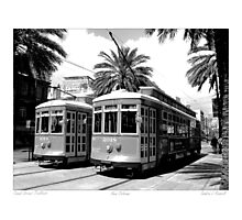 Canal Street Trollies  Photographic Print
