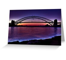 Start of a beautiful day Sydney Harbour Greeting Card