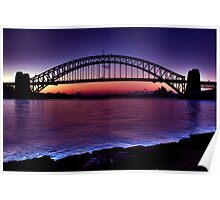 Start of a beautiful day Sydney Harbour Poster