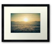 I see slope sunset Framed Print