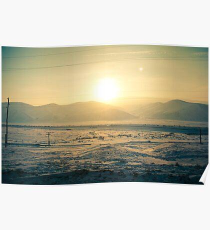 I see slope sunset Poster