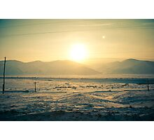 I see slope sunset Photographic Print