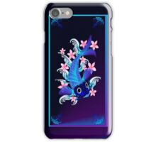 Blue Koi-Pink Flowers iPhone Case/Skin