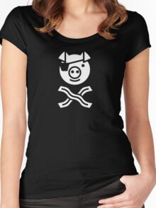 Pirate Pig Women's Fitted Scoop T-Shirt