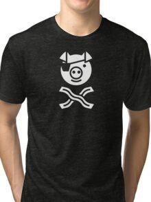 Pirate Pig Tri-blend T-Shirt