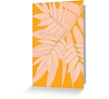 Bamboo Canvas Design Greeting Card