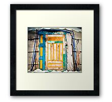 Ger door detail Framed Print