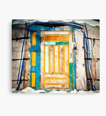 Ger door detail Canvas Print