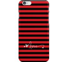 Love - red & black iPhone Case/Skin