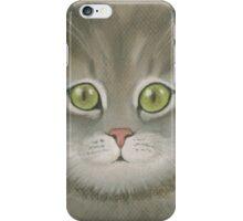 Gray kitten. iPhone Case/Skin