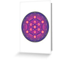 Metatron's Cube on Flower of Life Greeting Card