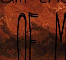 King of Mars - The Martian Sticker