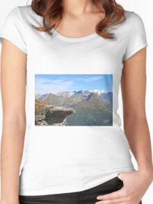 Austria, Alps mountain landscape  Women's Fitted Scoop T-Shirt