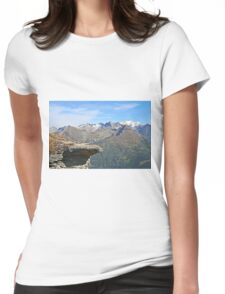 Austria, Alps mountain landscape  Womens Fitted T-Shirt