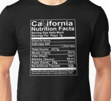 California Nutritional Facts Unisex T-Shirt