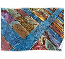 Colored paving Poster
