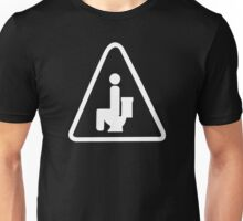 Caution Pooping Unisex T-Shirt