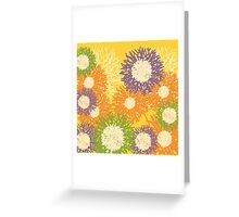 Abstract Flower Canvas Design Greeting Card