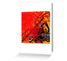 Abstract Graffiti Style Canvas Design Greeting Card
