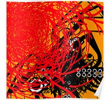 Abstract Graffiti Style Canvas Design Poster