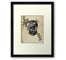 skull crystallisation Framed Print