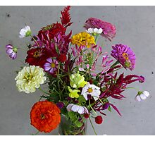 Color my life flowers vase Photographic Print