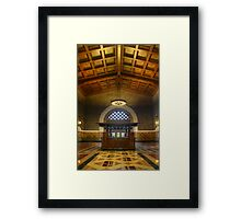 Union Station Information Framed Print