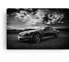 Aston Martin DBS - Mono Canvas Print