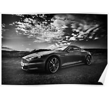 Aston Martin DBS - Mono Poster