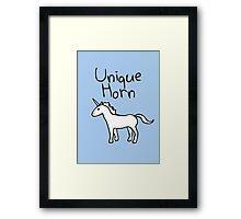 Unique Horn Unicorn Framed Print