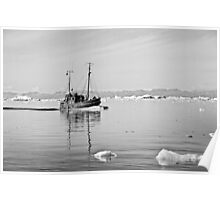 Greenland - Fishing boat on tourist charter Poster