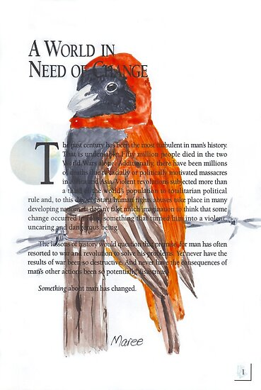 Red Bishop in Soft-cover by Maree  Clarkson