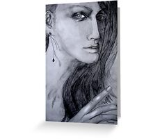Woman with earring  Greeting Card