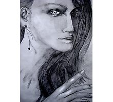 Woman with earring  Photographic Print