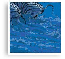 BLUE ZEBRAS Canvas Print