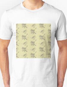 Cute vintage green gray birds pattern  Unisex T-Shirt