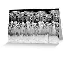 Champagne glasses 2 Greeting Card