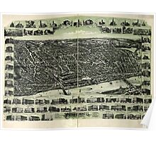 Panoramic Maps Haverhill Massachusetts Poster