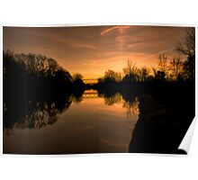Sunrise over the Erie Canal Poster