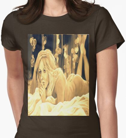 Until the morning  (sepia) Womens Fitted T-Shirt