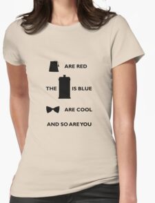 Doctor Who T-Shirt Black Womens Fitted T-Shirt