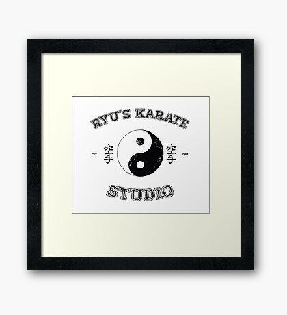 Ryu's Karate Studio Framed Print