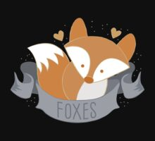 Foxes (LOVE BANNER) Kids Tee
