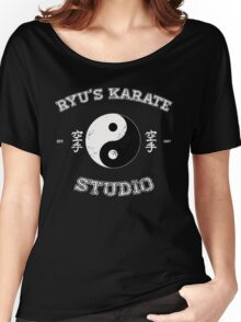 Ryu's Karate Studio - Black Version Women's Relaxed Fit T-Shirt