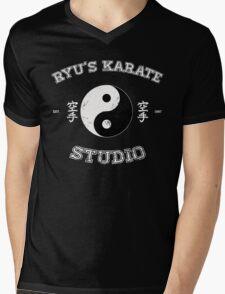 Ryu's Karate Studio - Black Version Mens V-Neck T-Shirt