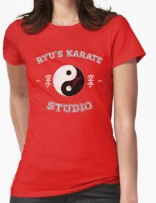 Ryu's Karate Studio - Black Version Womens Fitted T-Shirt