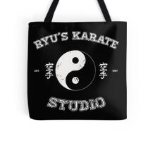 Ryu's Karate Studio - Black Version Tote Bag