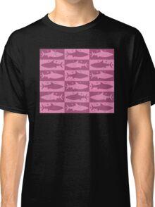 Shark array in pink Classic T-Shirt